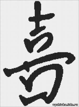 """Иероглиф """"Счастье"""" - знак"""