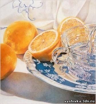"""Схема вышивки """"Чай с лимоном"""""""