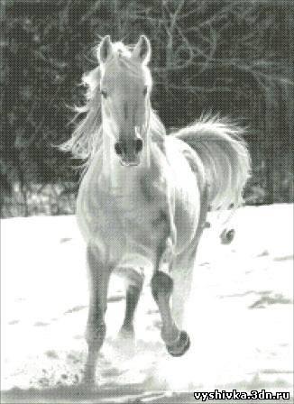 """Схема вышивки """"Бегущий конь"""""""